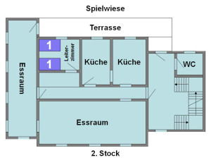 Jugendhaus Plazi - Grundriss 2. Stock