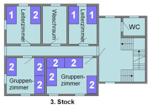 Jugendhaus Plazi - Grundriss 3. Stock