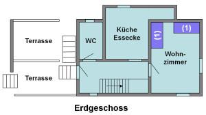Ferienhaus Chesa Pitschna - Grundriss Erdgeschoss