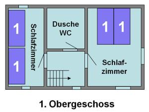 Ferienhaus Chesa Pitschna - Grundriss 1. Obergeschoss