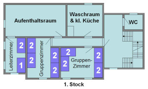 Jugendhaus Plazi - Grundriss 1. Stock