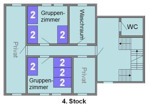 Jugendhaus Plazi - Grundriss 4. Stock